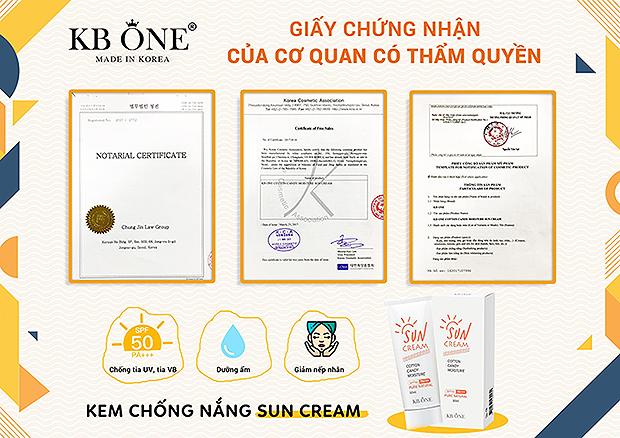 giay-cong-bo-chong-nang-kbone